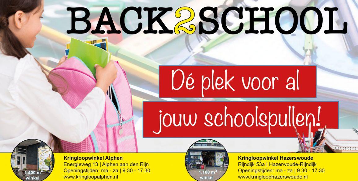 Back2School: schoolspullen koop je bij de kringloop!